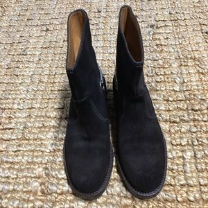 Gucci Brown Suede Horsebit  Ankle Boots